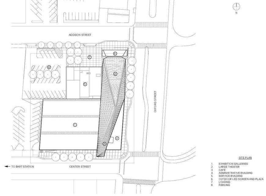 Berkeley Art Museum BAMPFA Diller Scofidio Renfro site plan