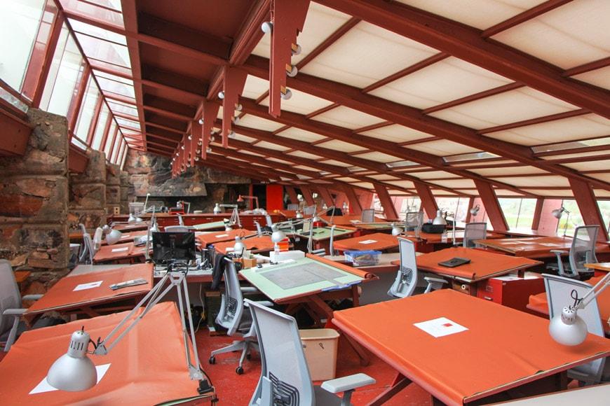 Frank Lloyd Wright Taliesin West Scottsdale Arizona Drafting Studio 2