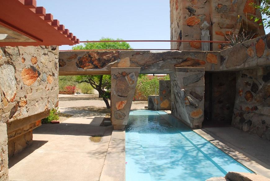 Frank Lloyd Wright Taliesin West Scottsdale Arizona Kiva bridge