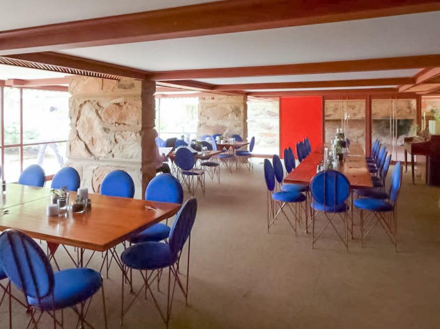 Frank Lloyd Wright Taliesin West Scottsdale Arizona new Dining Room
