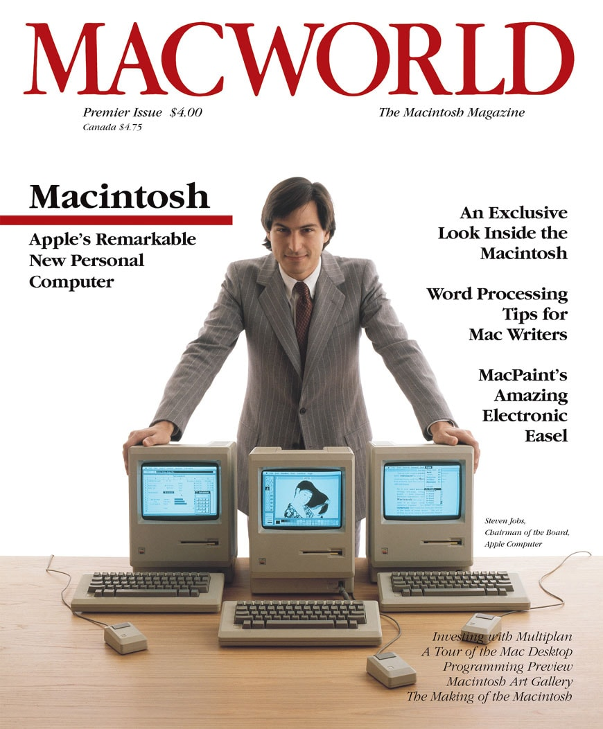 Steve Jobs Macintosh Macworld cover