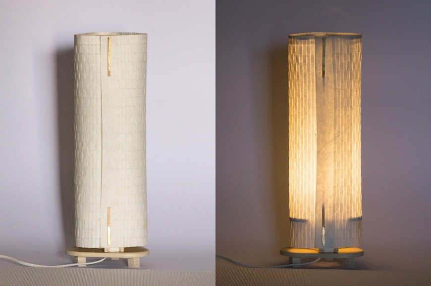Terrestre re-lamps paper and wood table lamp 3 low