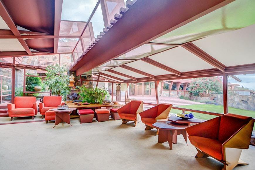 Frank Lloyd Wright Taliesin West Garden Room interior 1