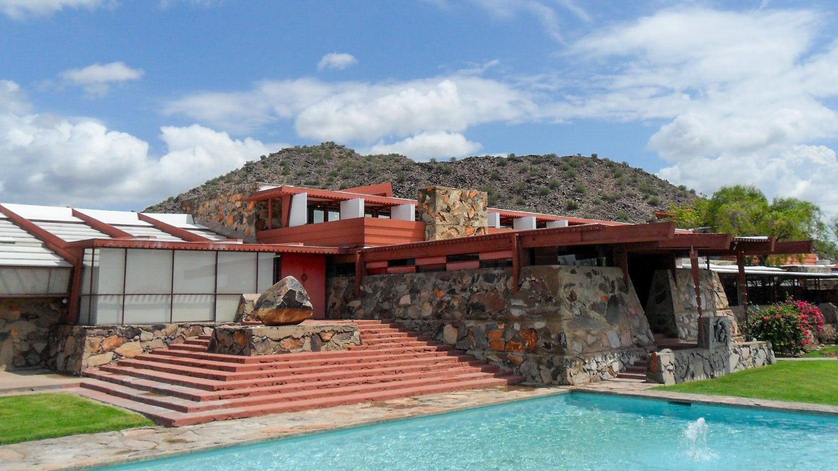 Frank Lloyd Wright Taliesin West Scottsdale Arizona Boardroom