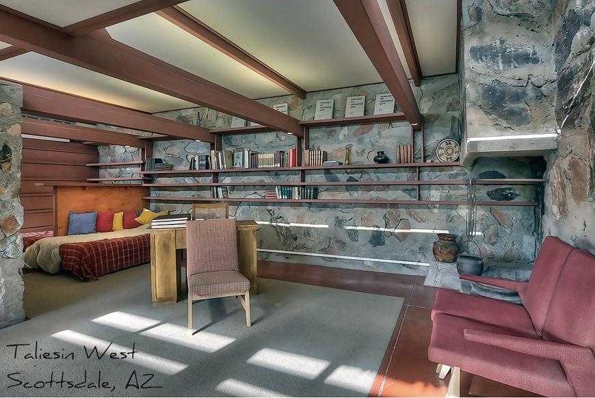 Frank Lloyd Wright apartment Taliesin West Scottsdale Arizona
