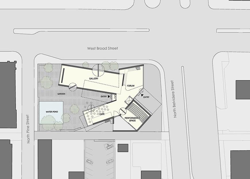VCU Institute for Contemporary Art Richmond Virginia Steven Holl siteplan