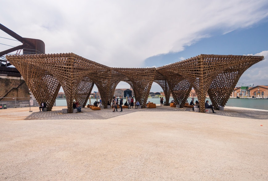 Vo Trong Nghia Bamboo Stalactite pavilion 2018 Venice Architecture Biennale Inexhibit 2