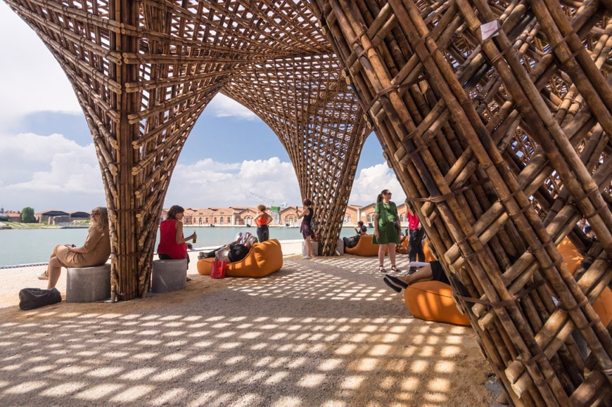 Vo Trong Nghia Bamboo Stalactite pavilion 2018 Venice Architecture Biennale Inexhibit 3