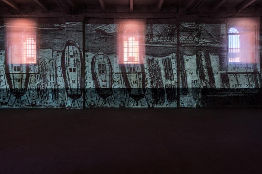 2018 Venice Architecture Biennale Arsenale exhibition entrance hall Inexhibit