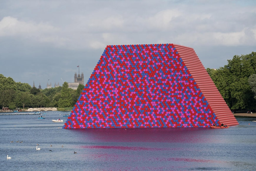 Christo London Mastaba floating installation Serpentine Lake Hyde Park 2018 06