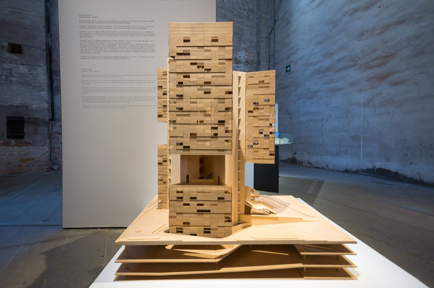 Estudio Carme Pinos Cube tower model Arsenale 2018 Venice Architecture Biennale Inexhibit