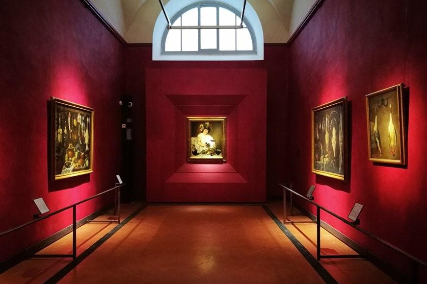Florence-Uffizi-gallery-new-rooms-Sala-Caravaggio-Bacco
