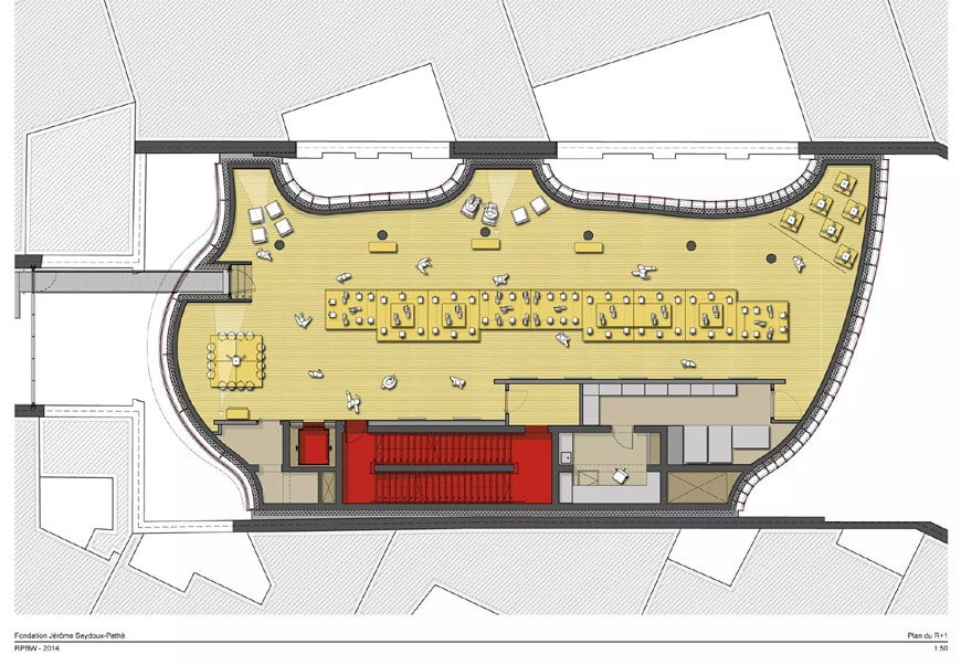 Fondation Jérôme Seydoux-Pathé Paris Renzo Piano 1st level plan