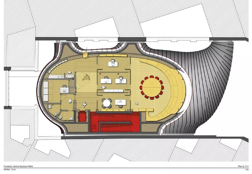 Fondation Jérôme Seydoux-Pathé Paris Renzo Piano 4th level plan
