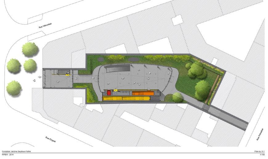 Fondation Jérôme Seydoux-Pathé Paris Renzo Piano site plan