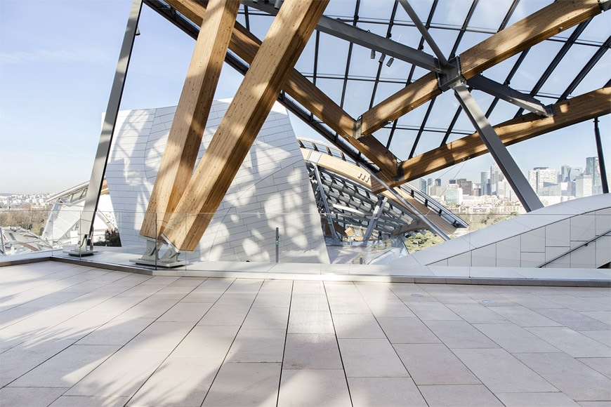 Fondation Louis Vuitton Paris Frank Gehry roof terrace