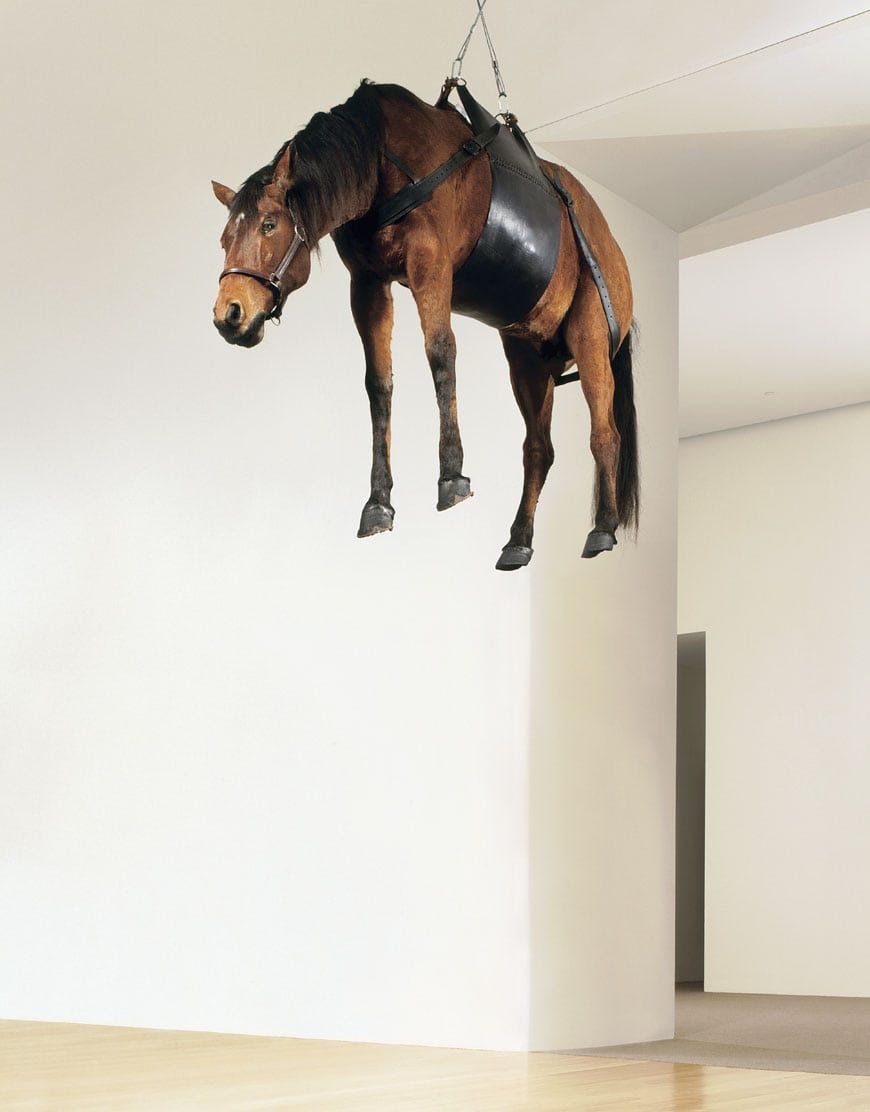 Fondation Louis Vuitton Paris Maurizio Cattelan horse