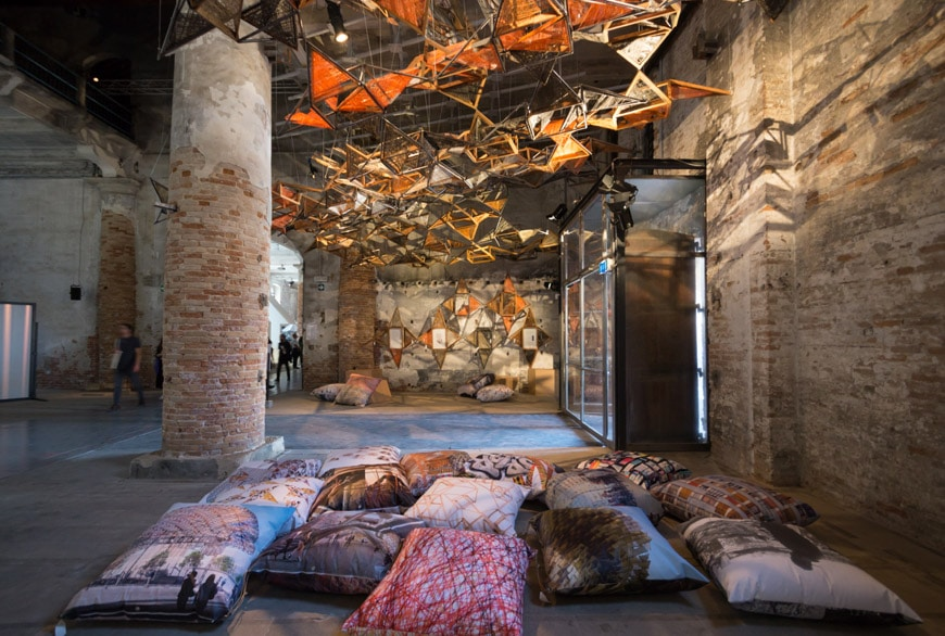 Miralles Tagliabue Weaving Architecture installation Arsenale 2018 Venice Biennale Inexhibit