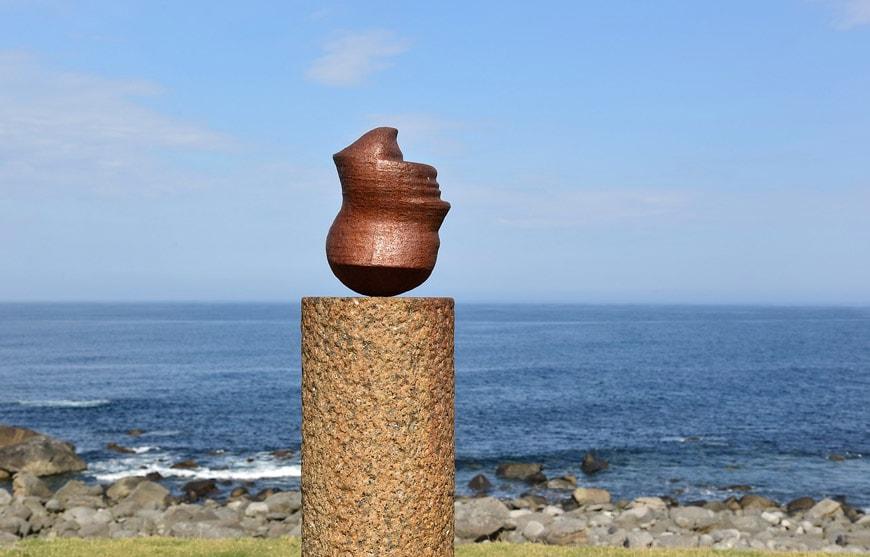 Eggum site Lofoten Norway Hode sculpture Markus Raetz 2