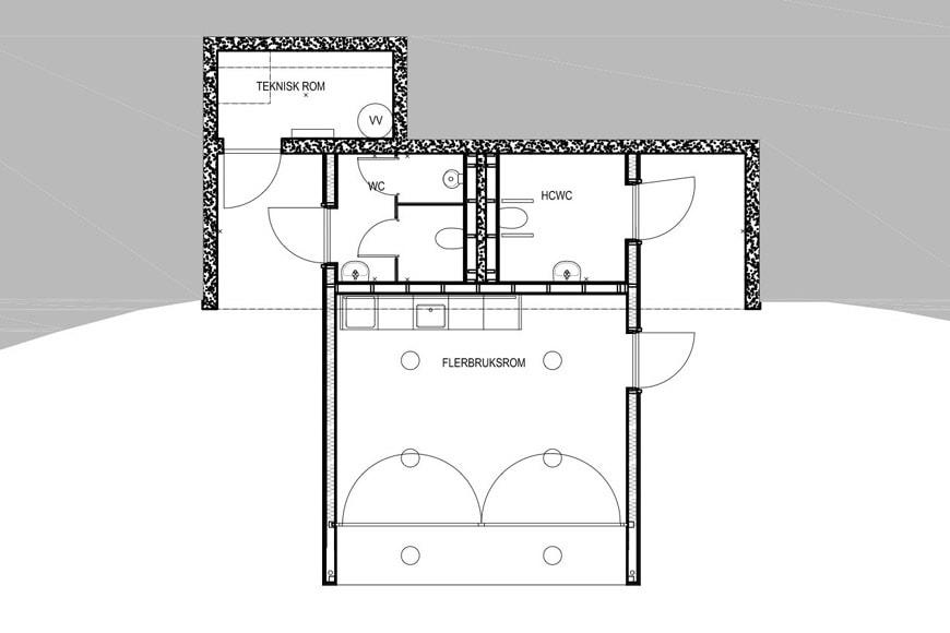 Eggum site Lofoten Norway Snøhetta service building plan