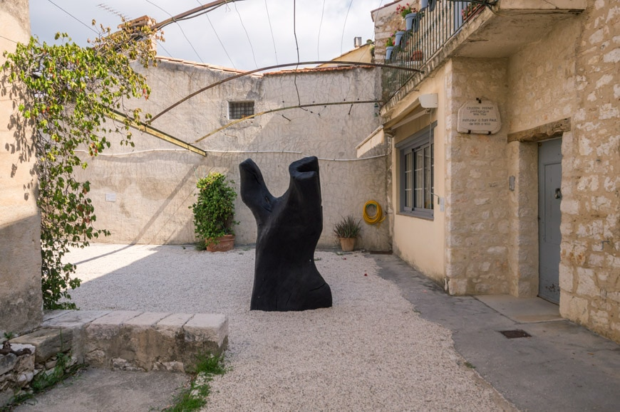 David Nash Torso sculpture Saint Paul de Vence Biennale Inexhibit