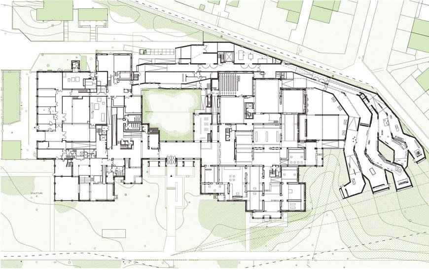 Lille Modern Art Museum ground floor plan 2