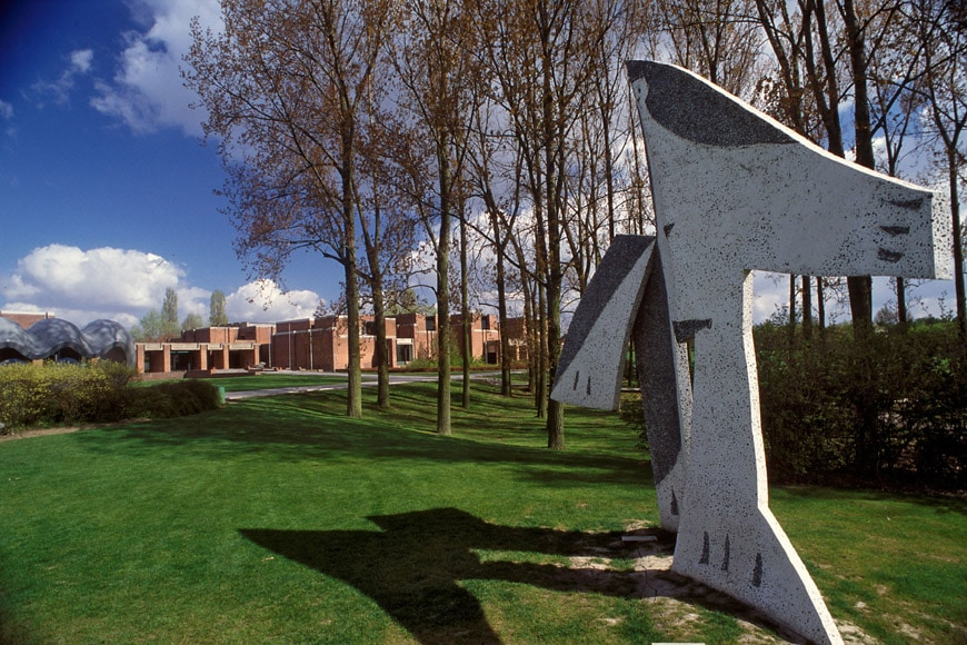 Lille Modern Art Museum park with Picasso sculpture