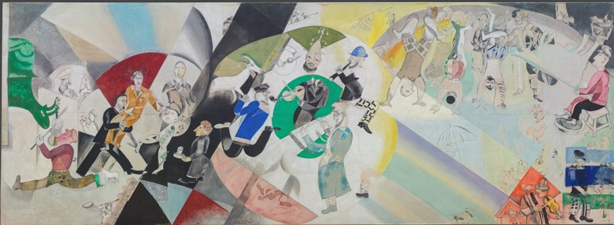 Marc Chagall Moscow Jewish Theater painting 2