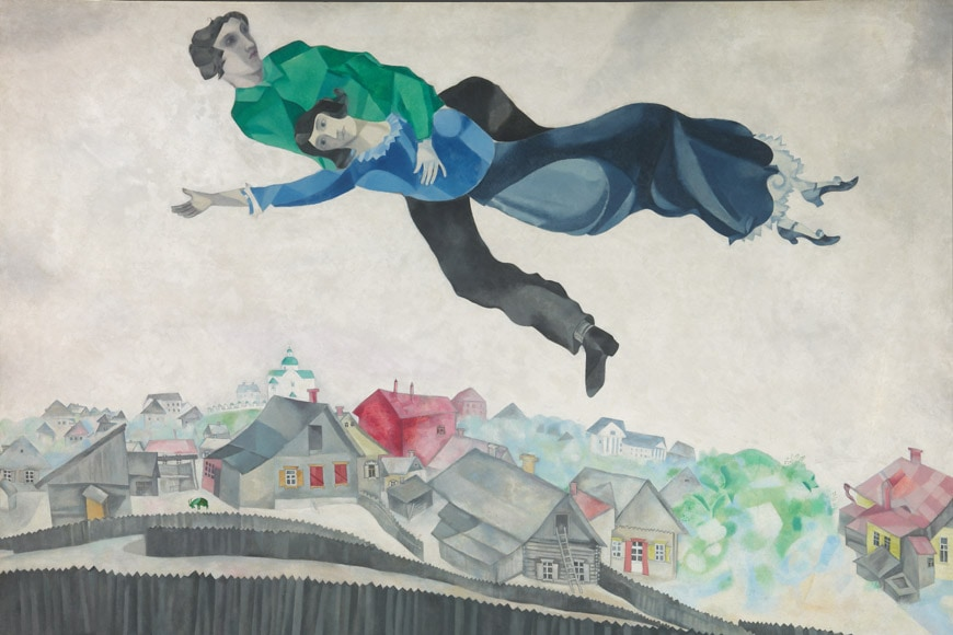 Marc Chagall The Flying Lovers of Vitebsk painting