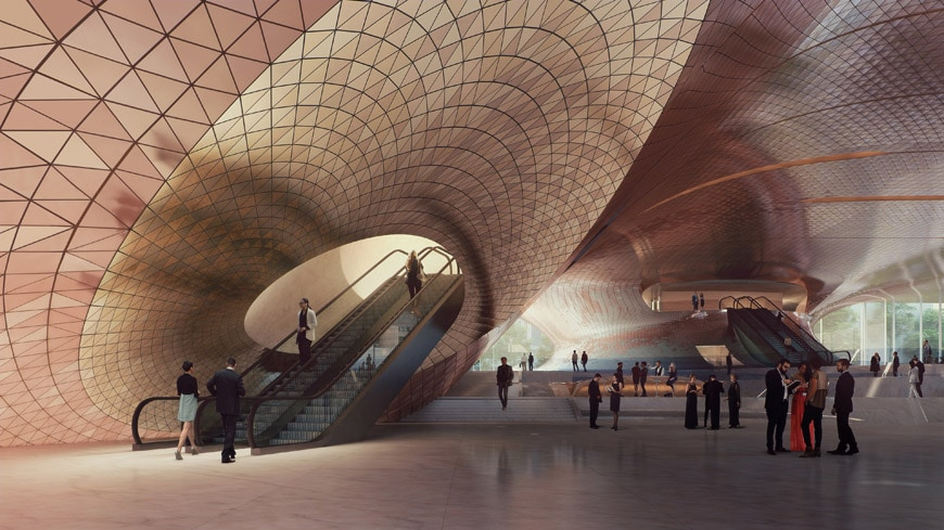 Zaha-Hadid-Architects-Sverdlovsk-Philharmonic-Concert-Hall-Lobby-Render by VA