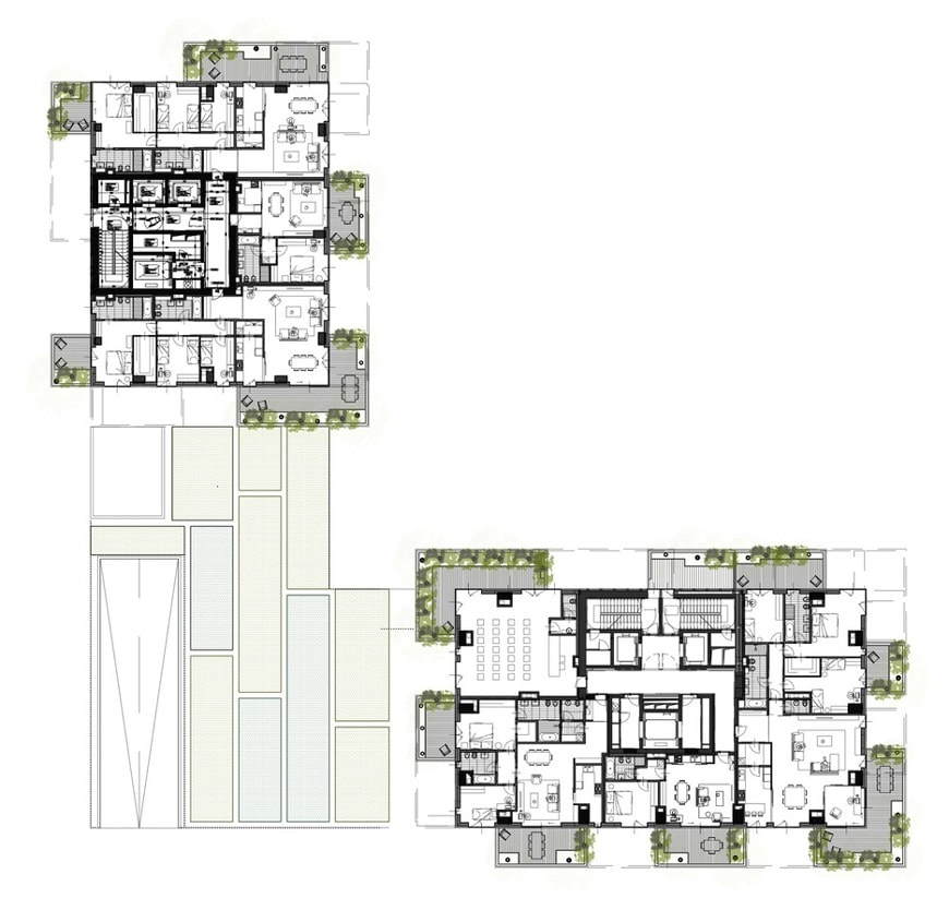 Bosco Verticale Vertical Forest Milan typical floor plan