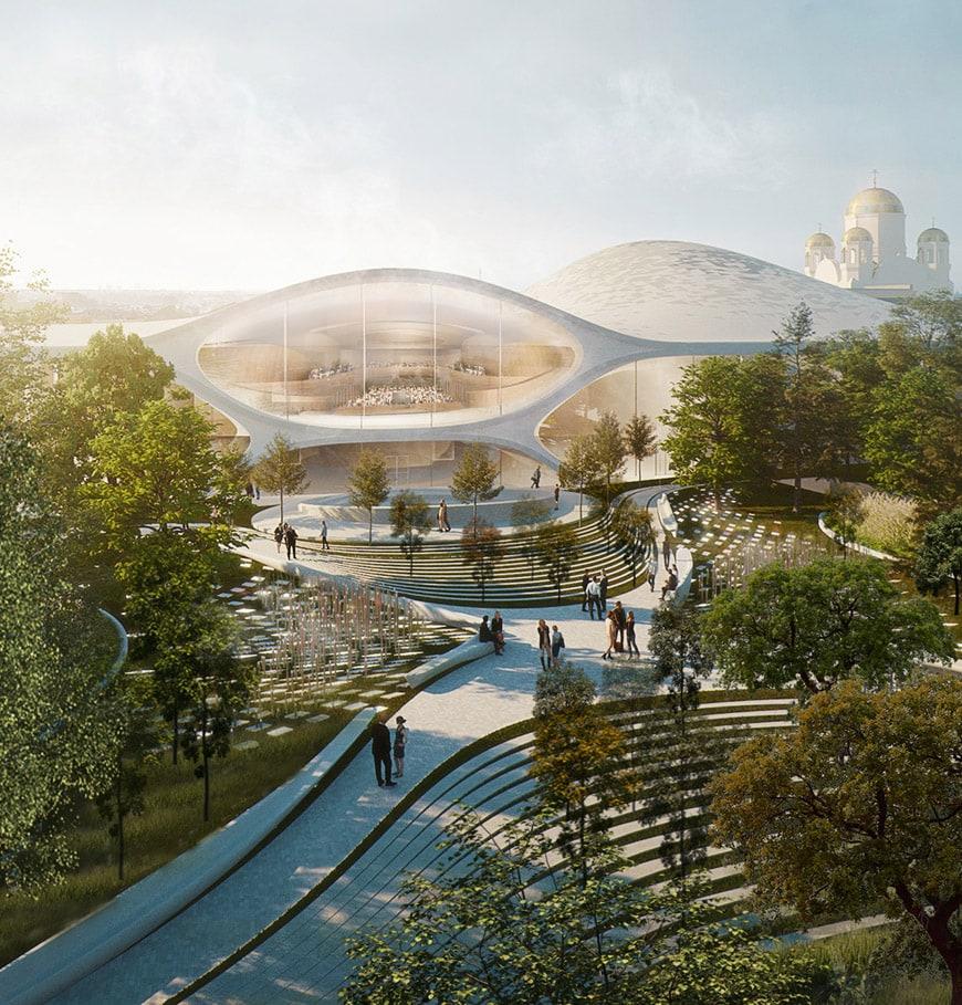 Zaha Hadid Architects Sverdlovsk Philharmonic Concert Hall_Weiner Gardens