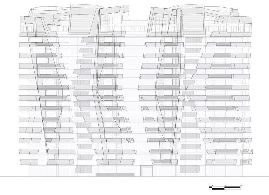 Daniel Libeskind Citylife residences Milan elevation