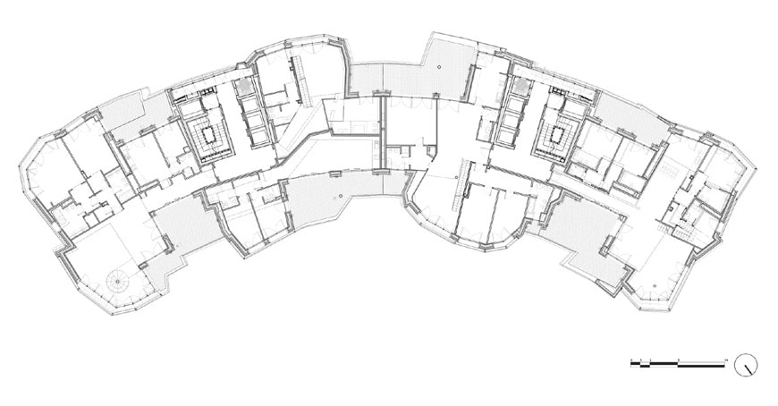 Daniel Libeskind Citylife residences Milan penthouse plan