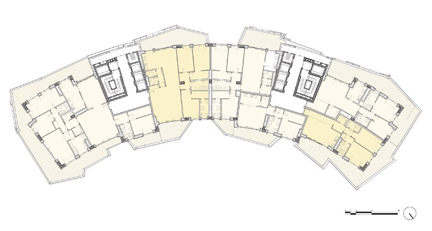 Daniel Libeskind Citylife residences Milan typical floor plan