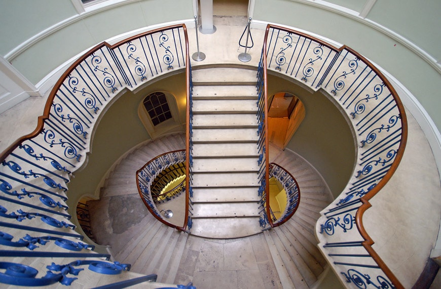 Somerset House London Nelson stair