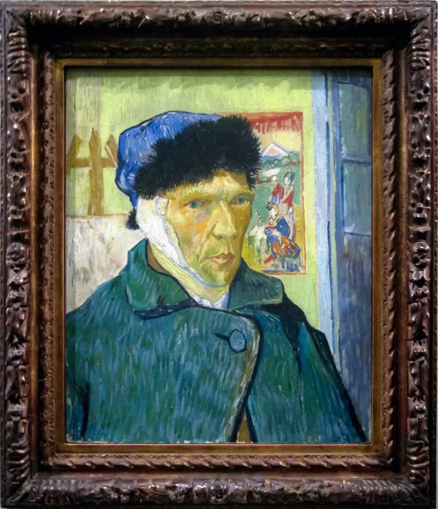 Van Gogh Self Portrait Bandaged Ear Courtauld Gallery London