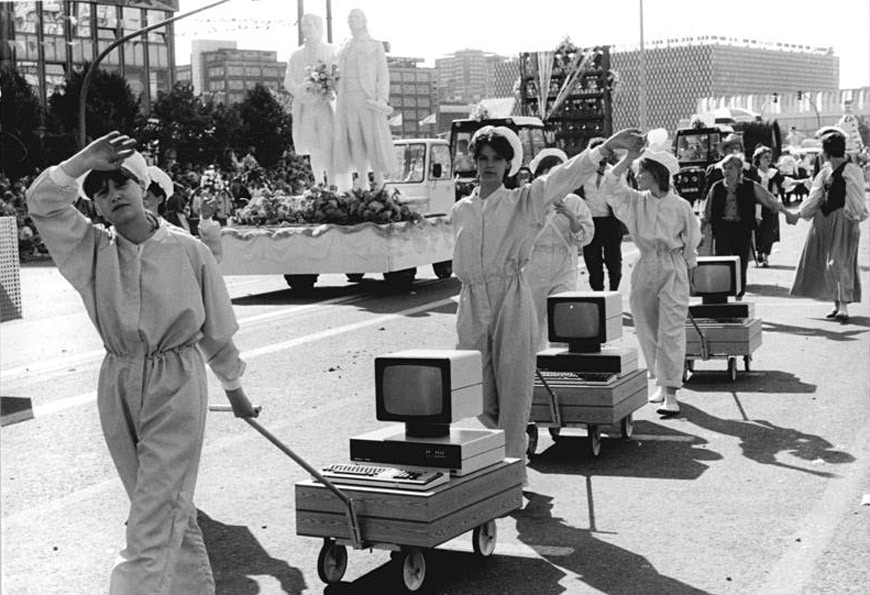 Computer parade East Germany