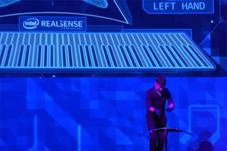 Intel RealSense virtual piano
