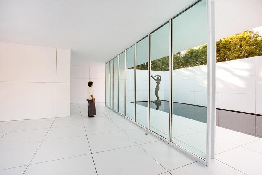 Barcelona Pavilion installation Bach Arquitectes