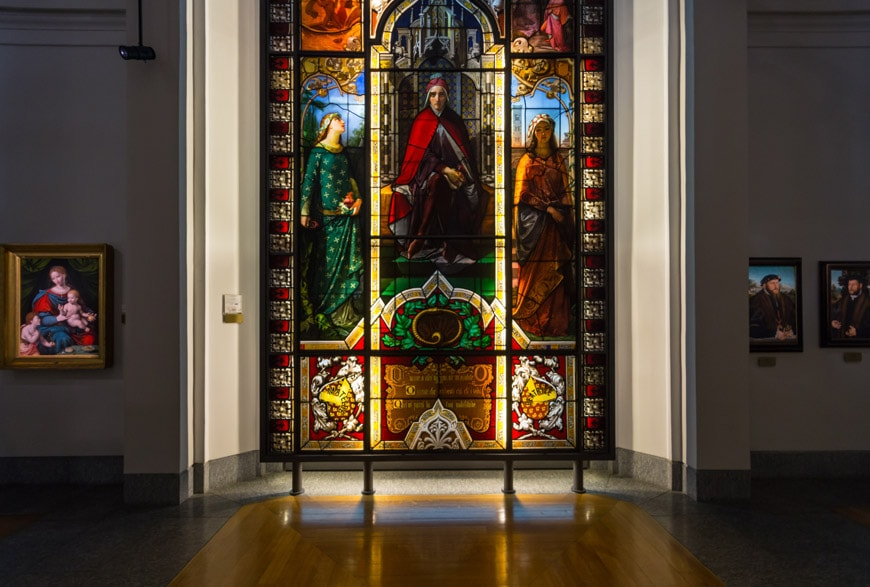 Biblioteca Ambrosiana Milano stained glass Inexhibit