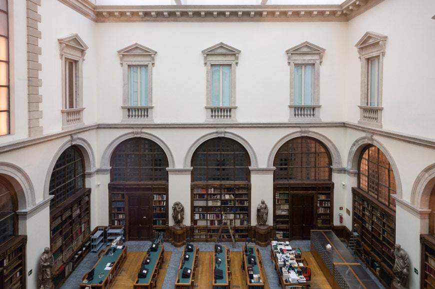 Biblioteca Ambrosiana museum Milan reading room Inexhibit