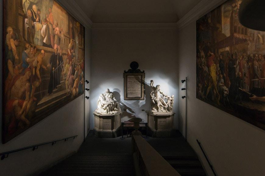 Pinacoteca Ambrosiana art museum Milan stair