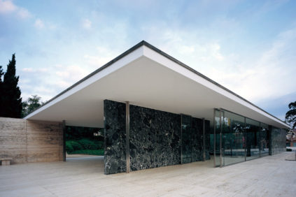 The German Pavilion in Barcelona by Mies van der Rohe