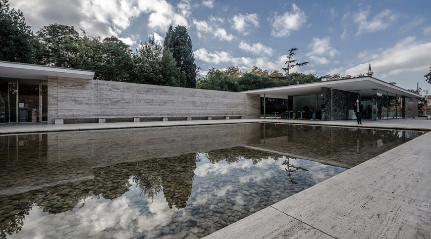 The German Pavilion In Barcelona By Mies Van Der Rohe Inexhibit