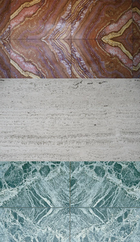 German Pavilion Barcelona Mies van der Rohe materials 2
