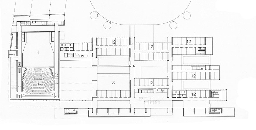 Grafton Architects Bocconi University Milan expansion first floor plan