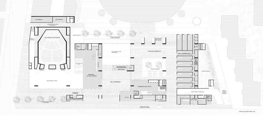 Grafton Architects Bocconi University Milan expansion ground floor plan