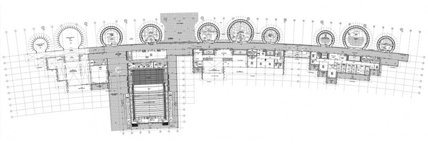 Jean-Marie Tjibaou Cultural Center New Caledonia Renzo Piano ground floor plan