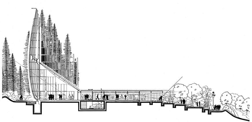 Jean-Marie Tjibaou Cultural Center New Caledonia Renzo Piano section